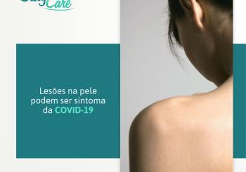Lesões na pele podem ser sintoma da COVID-19